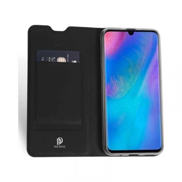 husa-portofel-huawei-p30-lite-2019-toc-portofel-carte-flip-piele-eco-negru-premium-duxducis 1