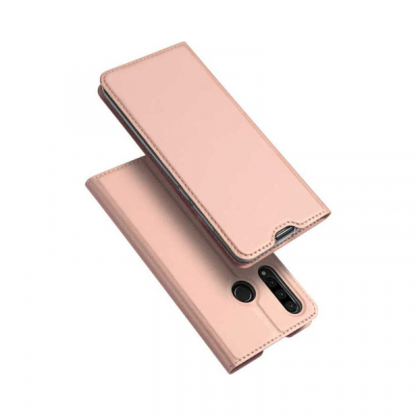 Husa Portofel Huawei P30 Lite 2019 Piele Eco Premium  DuxDucis - Roz Rose Gold 0