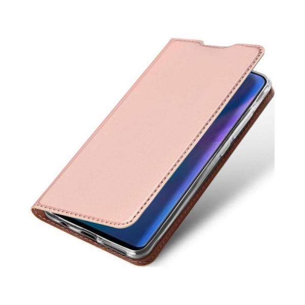 Husa Portofel Huawei P30 Lite 2019 Piele Eco Premium  DuxDucis - Roz Rose Gold 1