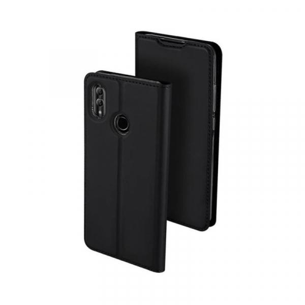 Husa Portofel Huawei Y6 2019 Piele Eco Premium  DuxDucis - Negru Black [0]