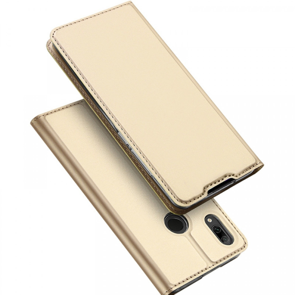 Husa Portofel Huawei Y7 2019 Piele Eco Premium  DuxDucis - Auriu Gold 1