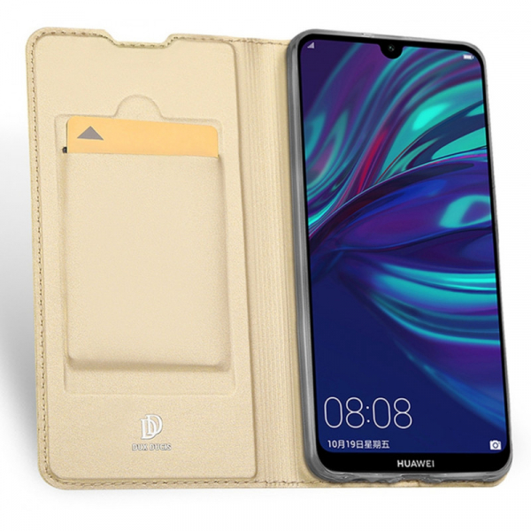 Husa Portofel Huawei Y7 2019 Piele Eco Premium  DuxDucis - Auriu Gold 4
