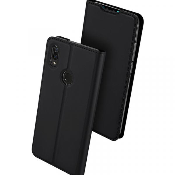 Husa Portofel Huawei Y7 2019 Piele Eco Premium  DuxDucis - Negru Black 0