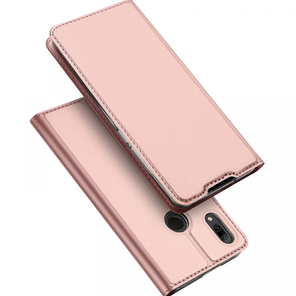 Husa Portofel Huawei Y7 2019 Piele Eco Premium  DuxDucis - Roz Rose Gold [1]
