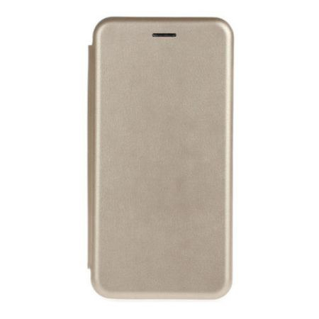 Husa iPhone 6 / 6 S Tip Carte Flip Cover din Piele Ecologica Gold (Aurie) 3