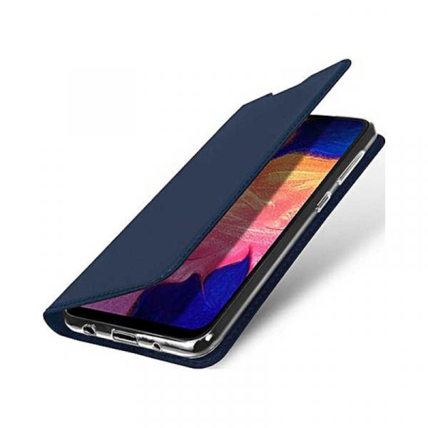 Husa Samsung Galaxy A10 2019 Bleumarin Piele Eco Toc Tip Carte Portofel Premium DuxDucis 1