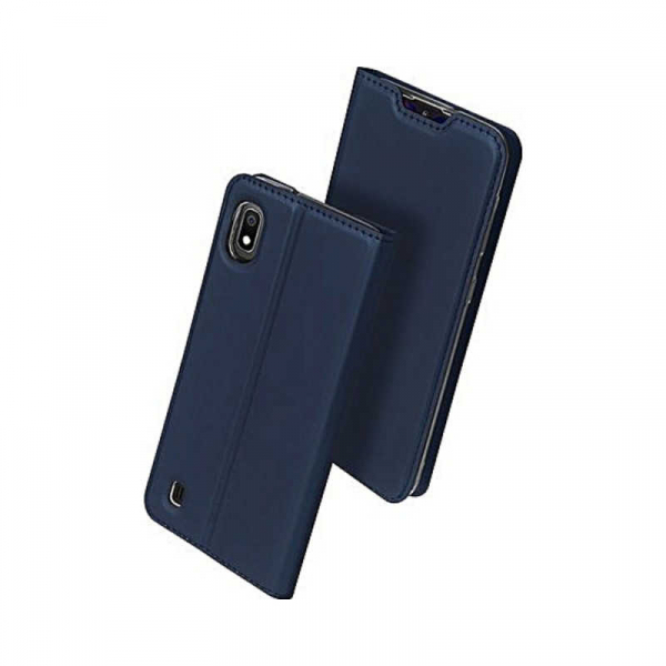 Husa Samsung Galaxy A10 2019 Bleumarin Piele Eco Toc Tip Carte Portofel Premium DuxDucis 0