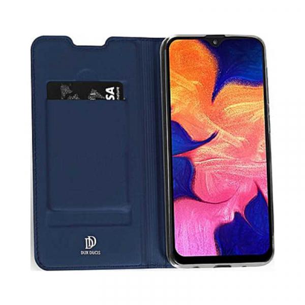 Husa Samsung Galaxy A10 2019 Bleumarin Piele Eco Toc Tip Carte Portofel Premium DuxDucis 3