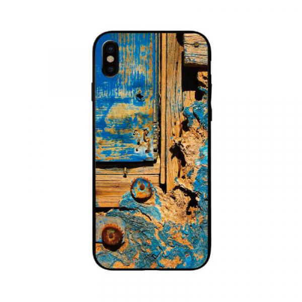 Husa Samsung Galaxy A10 2019 Personalizata Wood Blue 0