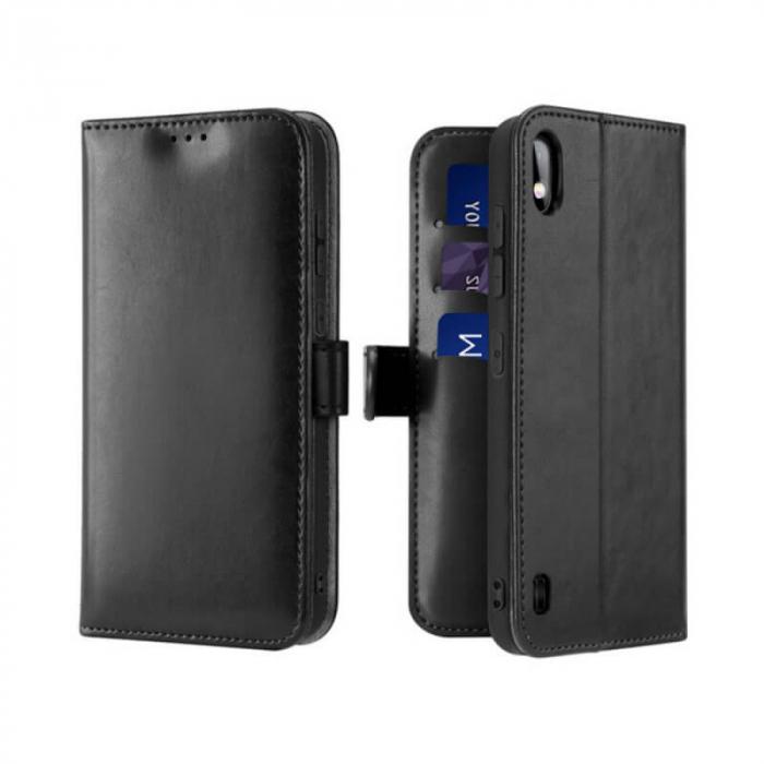 Husa Samsung Galaxy A10 2019 Toc Flip Tip Carte Portofel Negru Kado 0