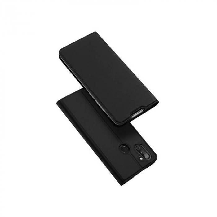 Husa Samsung Galaxy A11 2020 Toc Flip Tip Carte Portofel Negru Piele Eco Premium DuxDucis 0