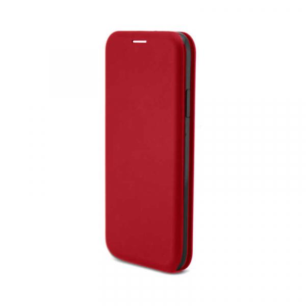 Husa Samsung Galaxy A20 E 2019 Rosu Tip Carte Flip Cover din Piele Ecologica Portofel cu Inchidere Magnetica 1