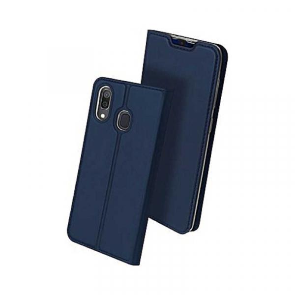 Husa Samsung Galaxy A20E 2019 Bleumarin Piele Eco Toc Tip Carte Portofel Premium DuxDucis [0]