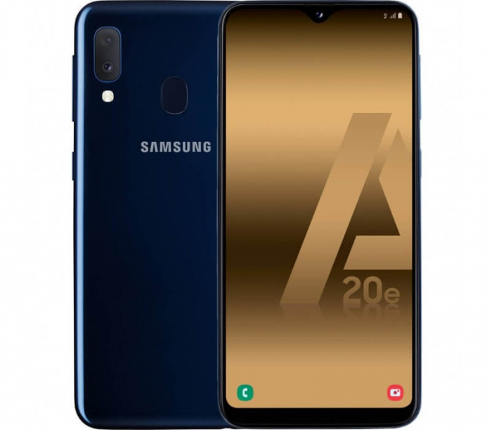 Husa Samsung Galaxy A20E Flip Oglinda Mov Tip Carte Clear View 4