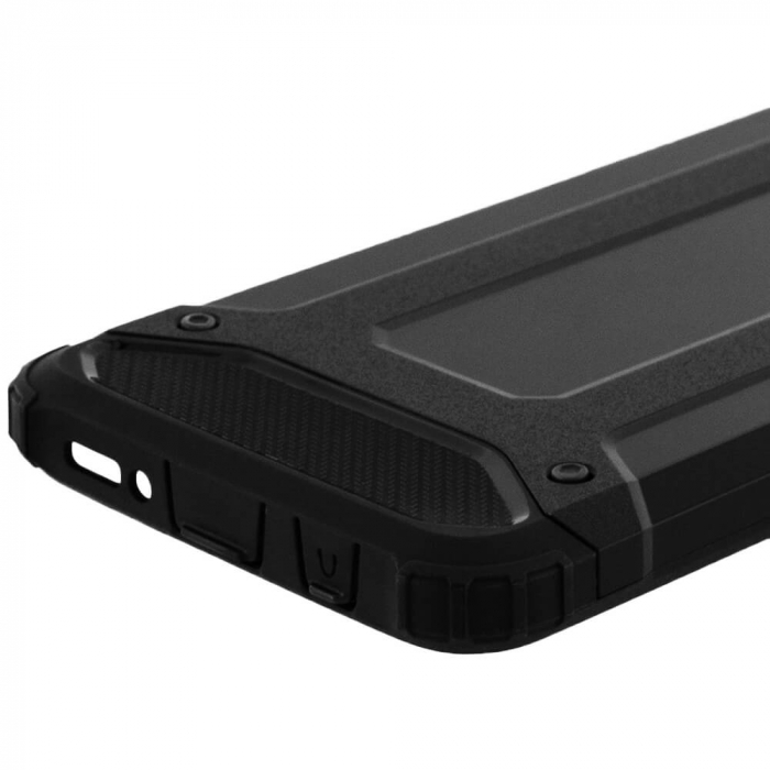 Husa Samsung Galaxy A20e Silicon Antisoc Negru Hybrid Armor [5]
