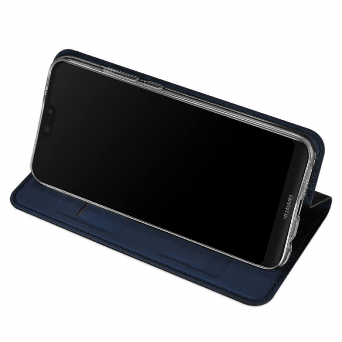 Husa Samsung Galaxy A21 2020 Toc Flip Tip Carte Portofel Bleumarin Piele Eco Premium DuxDucis 2
