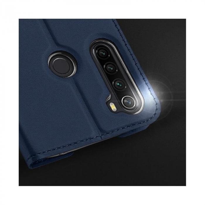 Husa Samsung Galaxy A21 2020 Toc Flip Tip Carte Portofel Bleumarin Piele Eco Premium DuxDucis 3