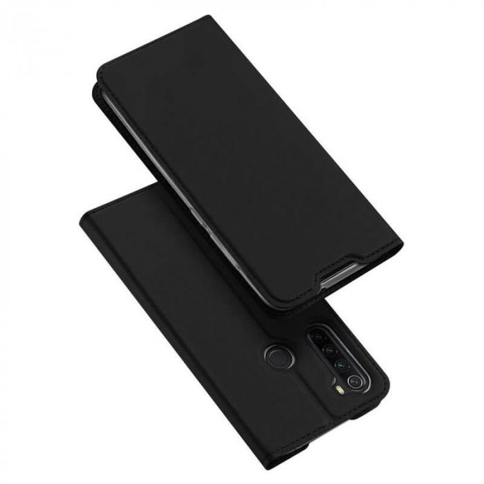 Husa Samsung Galaxy A21 2020 Toc Flip Tip Carte Portofel Negru Piele Eco Premium DuxDucis 4