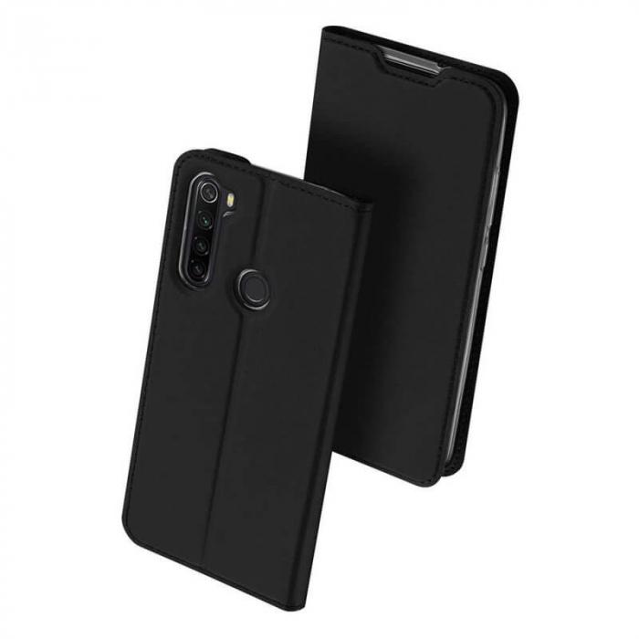 Husa Samsung Galaxy A21 2020 Toc Flip Tip Carte Portofel Negru Piele Eco Premium DuxDucis 0