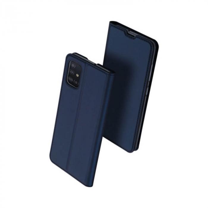 Husa Samsung Galaxy A21s 2020 Toc Flip Tip Carte Portofel Bleumarin Piele Eco Premium DuxDucis 0