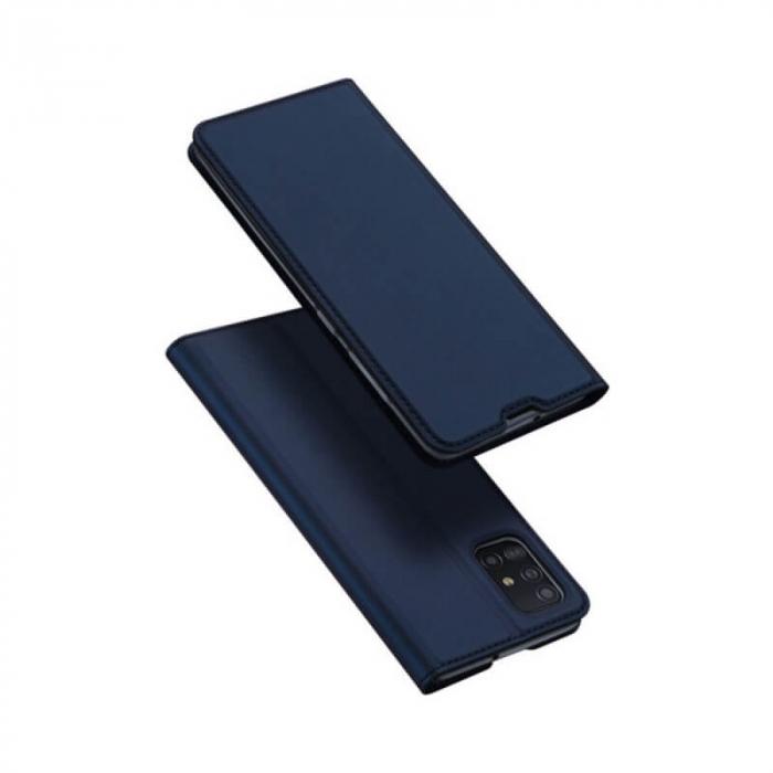 Husa Samsung Galaxy A21s 2020 Toc Flip Tip Carte Portofel Bleumarin Piele Eco Premium DuxDucis 4