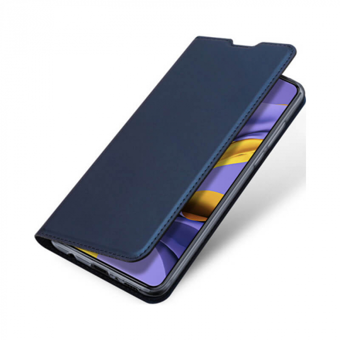 Husa Samsung Galaxy A21s 2020 Toc Flip Tip Carte Portofel Bleumarin Piele Eco Premium DuxDucis 3