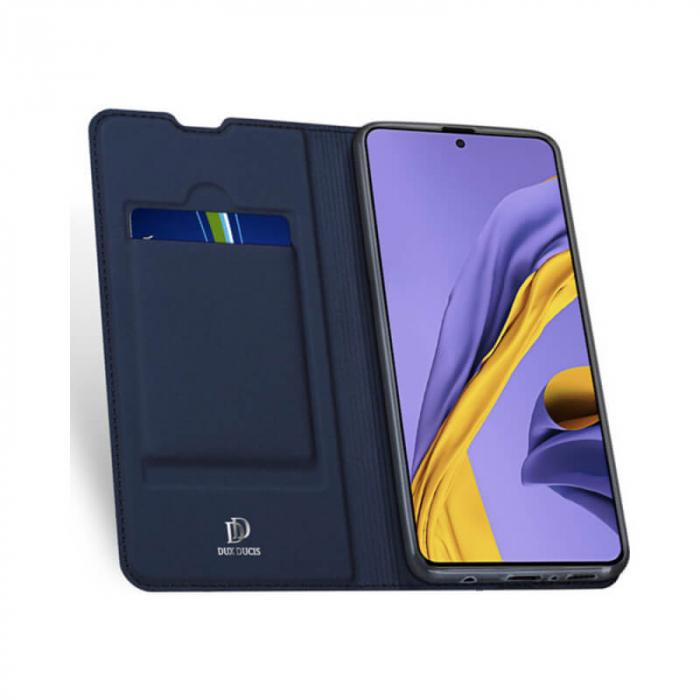 Husa Samsung Galaxy A21s 2020 Toc Flip Tip Carte Portofel Bleumarin Piele Eco Premium DuxDucis 1