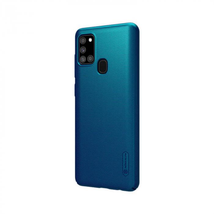 Husa Silicon Samsung Galaxy A21S Albastru Nillkin Frosted [2]