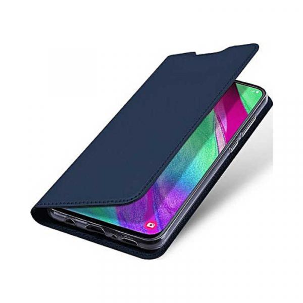 Husa Samsung Galaxy A40 2019 Albastru Inchis Toc Piele Eco Premium DuxDucis Portofel Flip Cover Magnetic 4