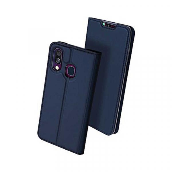 Husa Samsung Galaxy A40 2019 Albastru Inchis Toc Piele Eco Premium DuxDucis Portofel Flip Cover Magnetic 1