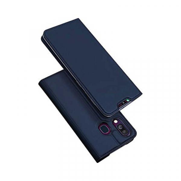 Husa Samsung Galaxy A40 2019 Albastru Inchis Toc Piele Eco Premium DuxDucis Portofel Flip Cover Magnetic 0
