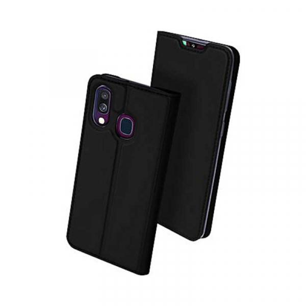 Husa Samsung Galaxy A40 2019 Negru Toc Piele Eco Premium DuxDucis Portofel Flip Cover Magnetic 1