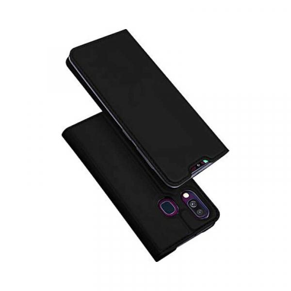 Husa Samsung Galaxy A40 2019 Negru Toc Piele Eco Premium DuxDucis Portofel Flip Cover Magnetic 0