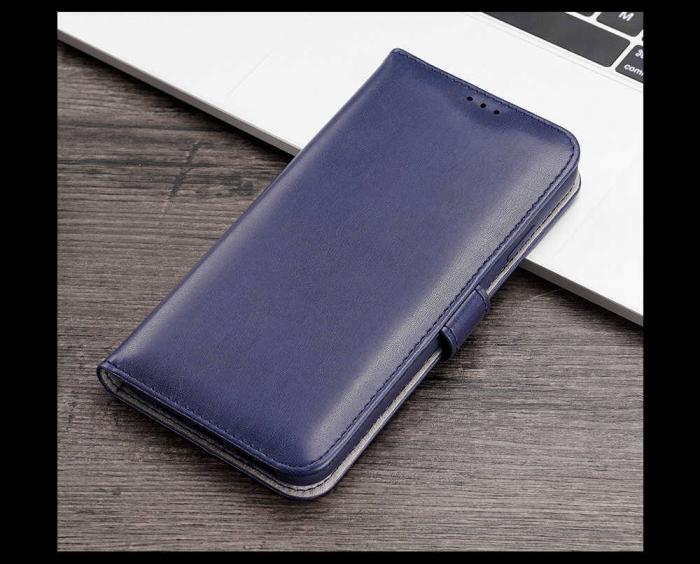 Husa Samsung Galaxy A40 2019 Toc Flip Tip Carte Portofel Albastru Kado 2