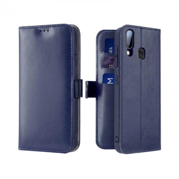 Husa Samsung Galaxy A40 2019 Toc Flip Tip Carte Portofel Albastru Kado 0