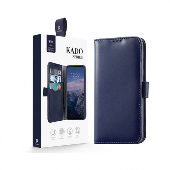 Husa Samsung Galaxy A40 2019 Toc Flip Tip Carte Portofel Albastru Kado 3