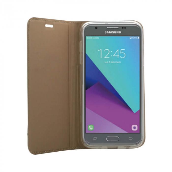 Husa Flip Samsung Galaxy A40 Tip Carte Auriu Focus 2