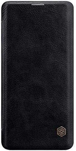 Husa Samsung Galaxy A41 2020 Negru Toc Flip Nillkin Qin Piele Eco Premium Tip Carte Portofel 4