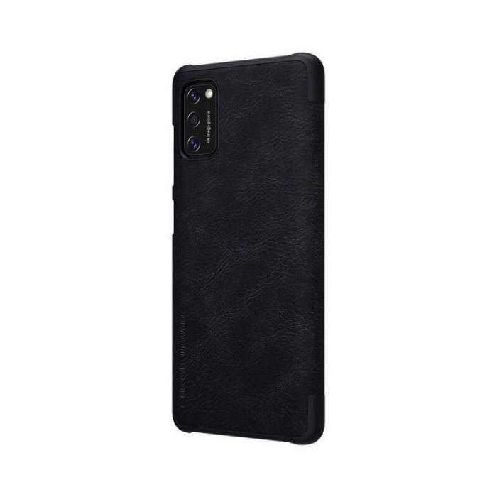 Husa Samsung Galaxy A41 2020 Negru Toc Flip Nillkin Qin Piele Eco Premium Tip Carte Portofel 5
