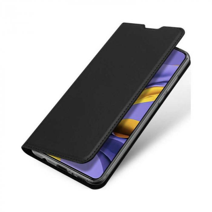 Husa Samsung Galaxy A41 2020 Toc Flip Tip Carte Portofel Negru Piele Eco DuxDucis 3