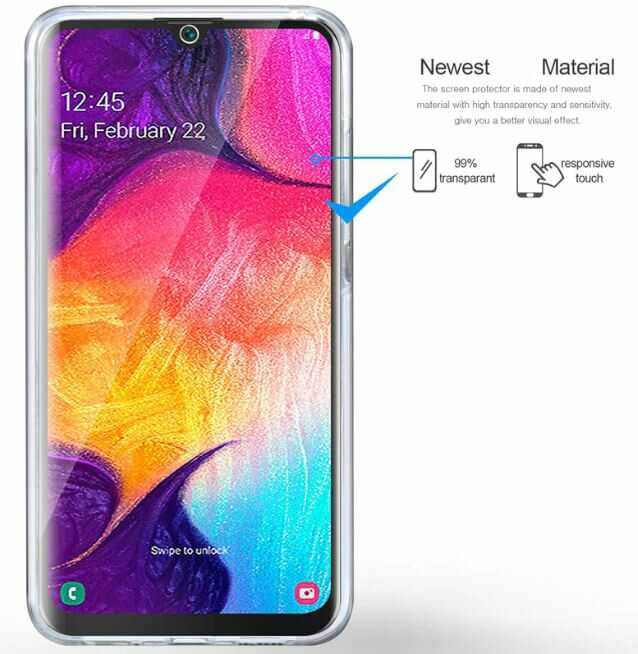 Husa Samsung Galaxy A41 Full Cover 360 Grade Transparenta 2