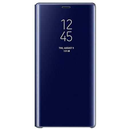 Husa Samsung Galaxy A5 / A8 2018 Clear View Flip Toc Carte Standing Cover Oglinda Albastru 0