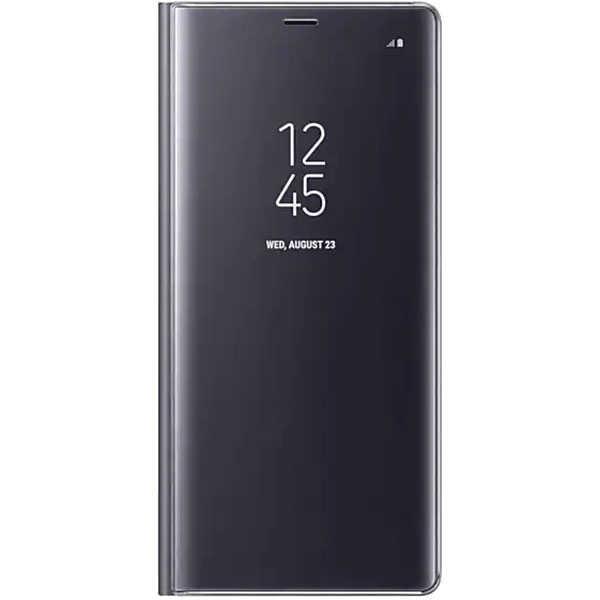 Husa Samsung Galaxy A5 / A8 2018 Clear View Flip Toc Carte Standing Cover Oglinda Negru 0