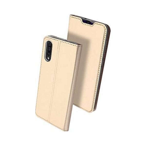 Husa Samsung Galaxy A50 2019 Auriu Piele Eco Toc Tip Carte Portofel Premium DuxDucis 0