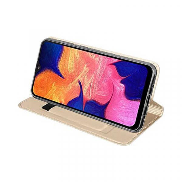 Husa Samsung Galaxy A50 2019 Auriu Piele Eco Toc Tip Carte Portofel Premium DuxDucis 1