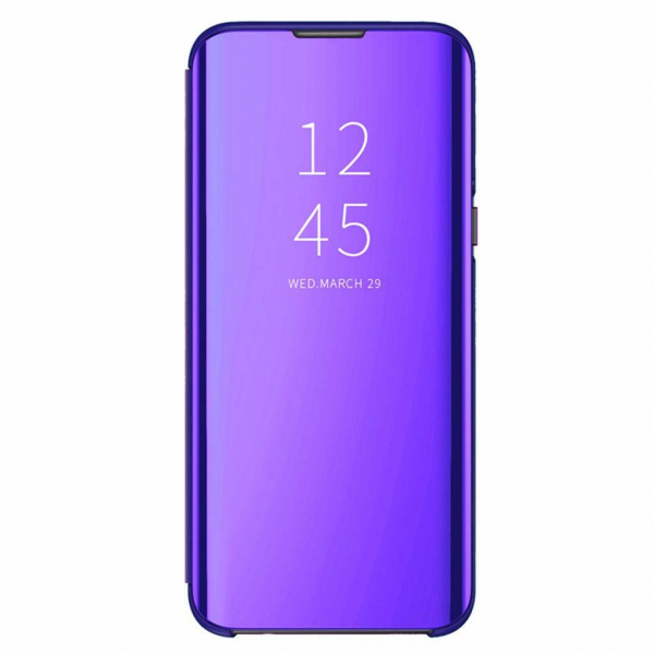 Husa Samsung Galaxy A50 2019 Clear View Mov Flip Standing Cover Oglinda Violet 0