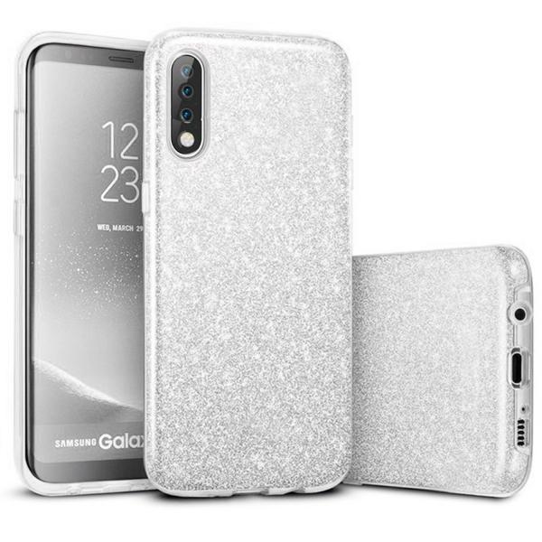 Husa de protectie Samsung Galaxy A30 / Samsung Galaxy A50 2019 Argintie Sclipici Color Silicon TPU Carcasa Silver 0