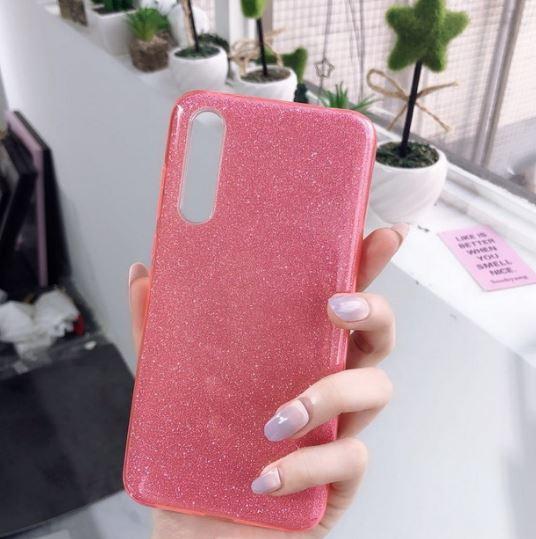 Husa de protectie Samsung Galaxy A30 / Samsung Galaxy A50 2019 Roz Sclipici Color Silicon TPU Carcasa 1
