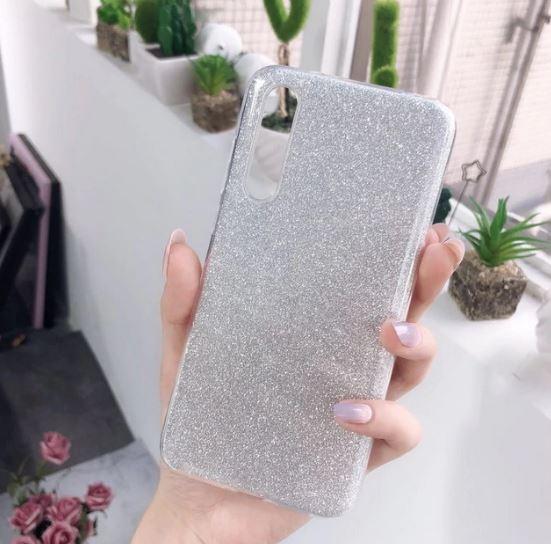 Husa de protectie Samsung Galaxy A30 / Samsung Galaxy A50 2019 Argintie Sclipici Color Silicon TPU Carcasa Silver 1