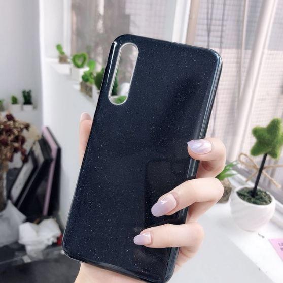 Husa de protectie Samsung Galaxy A30 / Samsung Galaxy A50 2019 Negru Sclipici Color Silicon TPU Carcasa 1